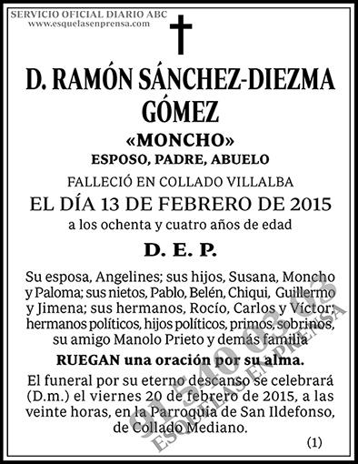 Ramón Sánchez-Diezma Gómez